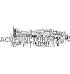 A quick start guide to acupuncture text word vector