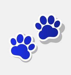 Animal tracks sign new year bluish icon vector