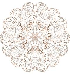 Beautiful boho mandala vector