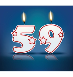 Birthday candle number 59 vector image vector image