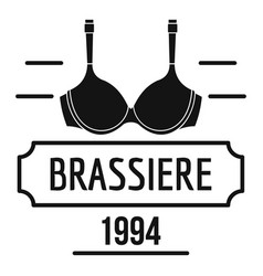 Brassiere logo simple black style vector