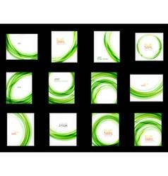 Business color swirl set minimal design templates vector image