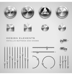 Buttons and knobs vector image