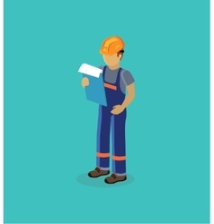 Character manager isometric design flat vector