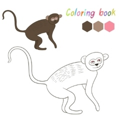 Coloring book vervet kids layout for game vector