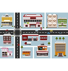 commercial area vector image