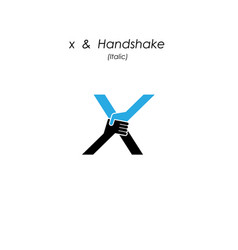 creative x- letter icon abstract logo design vector image vector image