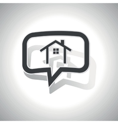 Curved cottage message icon vector