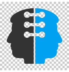 Dual Head Interface Icon vector image