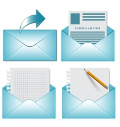 envelope on white background vector image vector image