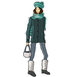 Fashion trendy girl vector