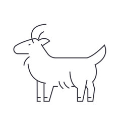 goat line icon sign on vector image vector image