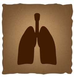 Human organs vintage effect vector