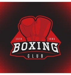 Label of boxing vector