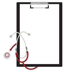 Medical clipboard vector image
