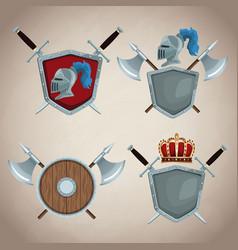 medieval emblem insignia vector image vector image
