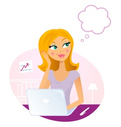 office woman vector image vector image