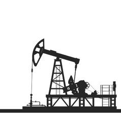 Oil pump silhouette isolated on white background vector image vector image