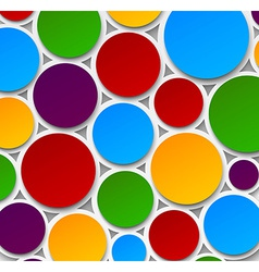 Paper colorful bubbles vector image vector image
