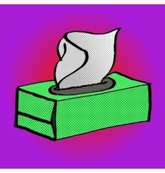 Paper white napkin box pop art vector