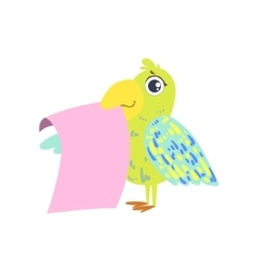 Parrot with the template for the message vector