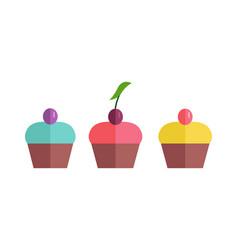 Pretty cakes vector