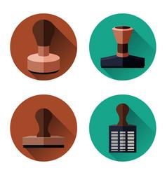 rubber stamp set vector image