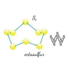 S8 octasulfur molecule vector
