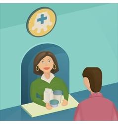 Saleswoman Mmilk vector image vector image