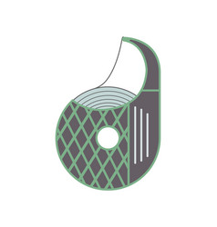 scotch tape dispenser icon in flat design vector image