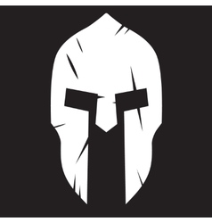 Silhouette of spartan helmet with scratches from vector