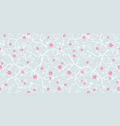 Silver grey pink and white blooming vector