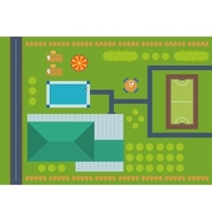 Top view of outdoor house vector