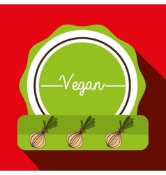 Hand food vegan vegetables vector