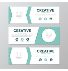 Turquoise corporate business banner template vector