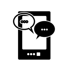 Mobile messaging icon image vector