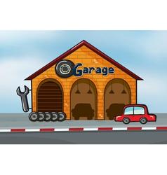 A garage vector image