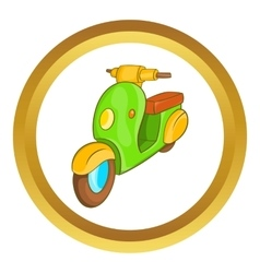Scooter motorbike icon vector