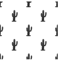 cactus icon in black style isolated on white vector image