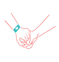 Hands of people in love vector
