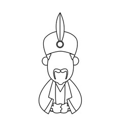 Cartoon man manger with traditional clothes vector