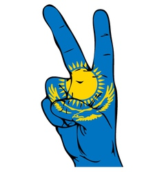 Peace Sign of the Kazakhstanian flag vector image