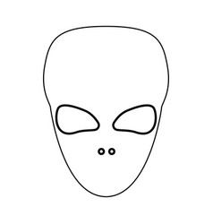 Extraterrestrial alien face or head black color vector