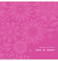 Pink abstract flowers texture frame corner pattern vector