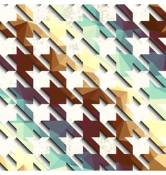 Retro pattern on grunge background vector