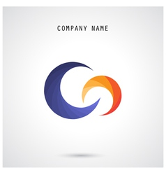 Creative circle abstract logo design templa vector