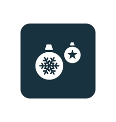 Christmas decorations icon rounded squares button vector