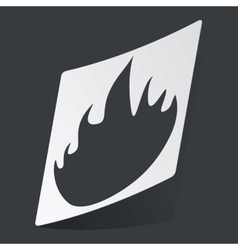 Monochrome fire sticker vector