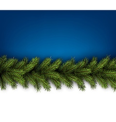 Card with fir branches vector image