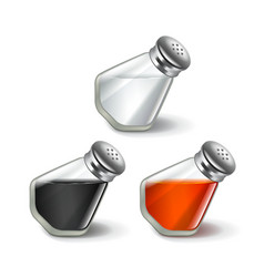 Salt and pepper isolated on white vector